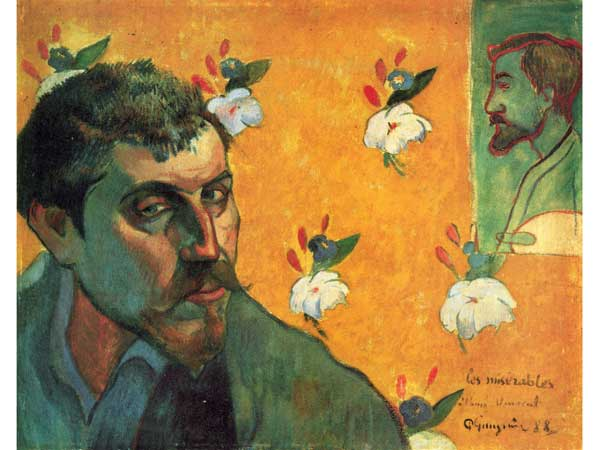 Self-Portrait with Portrait of Bernard 1888