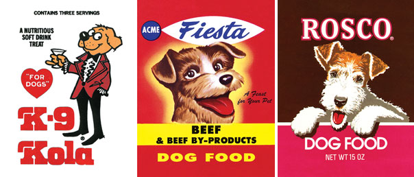 food for thought  vintage dog food labels