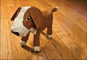 Paper Mache Dogs The Bark