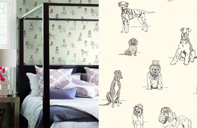 Ashford Toiles Dog's Life Wallpaper by York Wallcoverings (http://shrsl.com/1c15q)