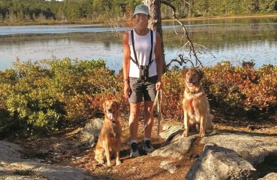 Linda P Case on a Hike, Interview book Dog Smart