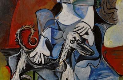 Femme Au Chien, Pablo Picasso (1962)