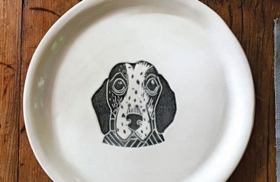 Dog Personalized Porcelain Plates
