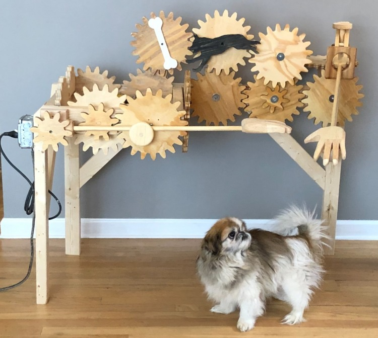 automated pup petting contraption