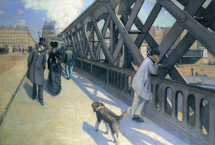 Gustave Caillebotte, Le Pont de l'Europe, 1876. Oil on canvas, 49 x 71 in. Collection of the Association des Amis du Petit Palais, Genève