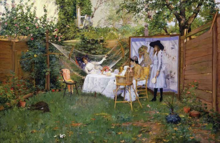 The Open Air Breakfast ca. 1888 Oil on canvas, 37.38 x 56.25 in.