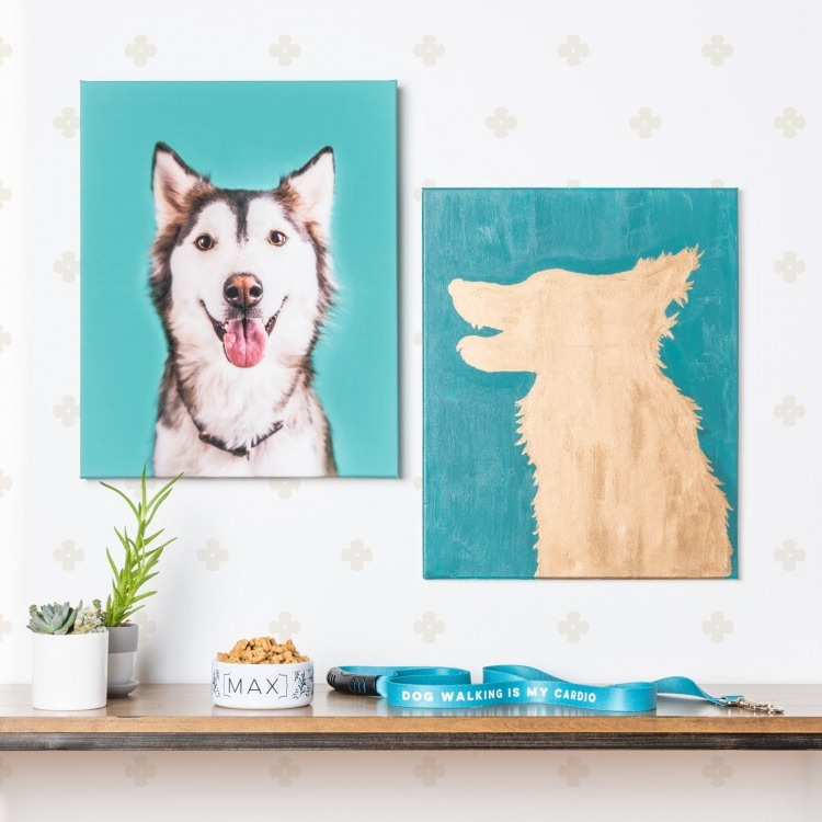 How To Make Diy Dog Silhouette Canvas Art The Bark