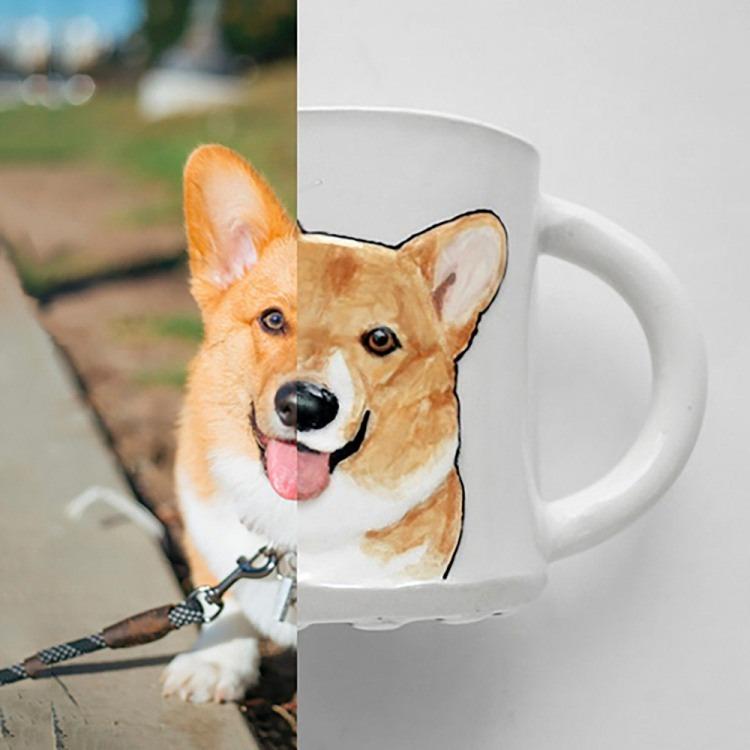 Custom Pet Portrait Mug