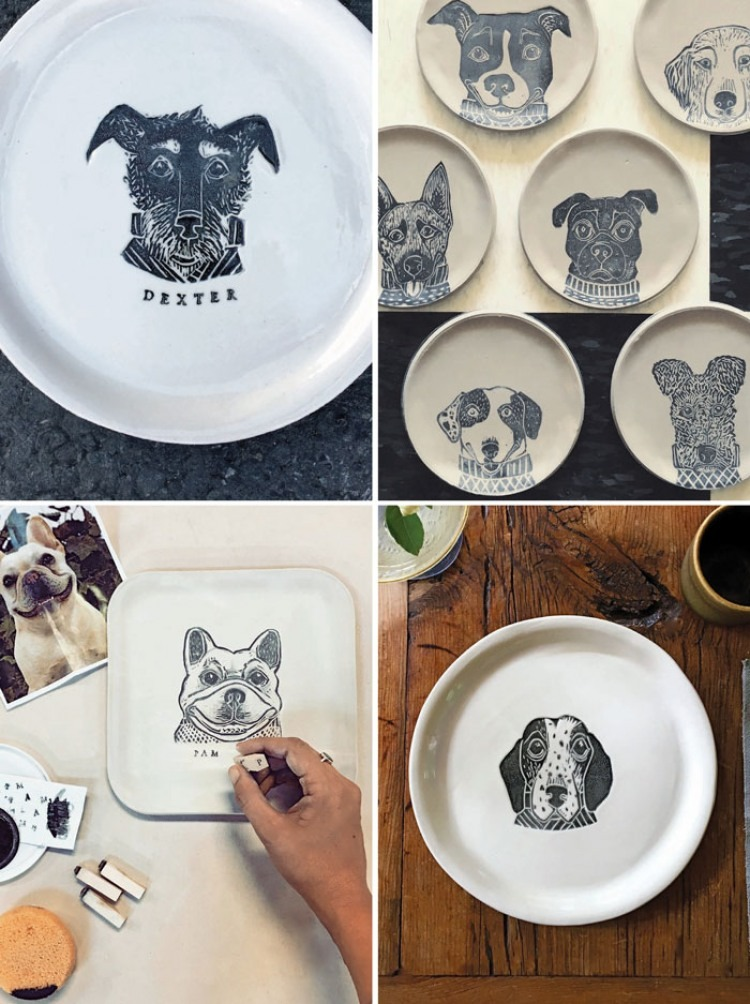 Dog Personalized Porcelain Plates