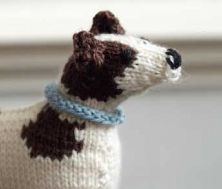 Crafts Knitted Dog Pattern The Bark