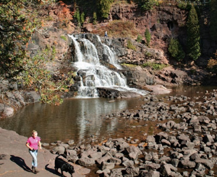Gooseberry Falls State Park along the North Shore of Lake Superior