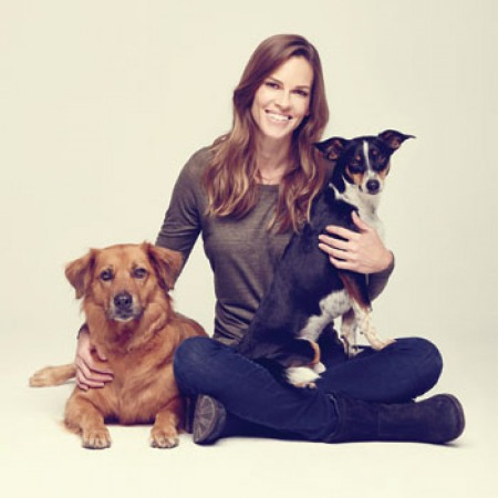Hilary Swank with Rumi and Kai