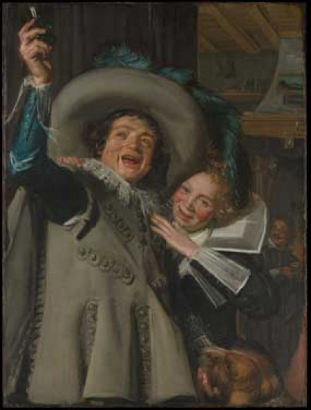 Young Man and Woman in an Inn