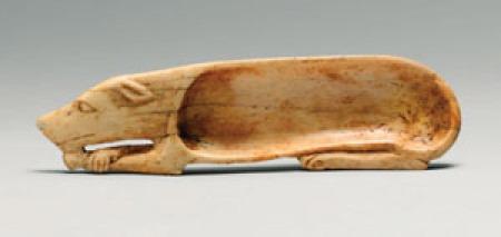 Cosmetic Spoon in Shape of Dog New Kingdom Dynasty 18, Egypt ca. 1550