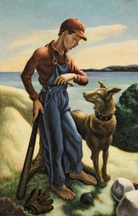 T.P. and Jake, Tempera on canvas mounted on board, 48 by 31 inches (121.9 by 78.7 cm) Painted in 1938. Courtesy of Sotheby's.