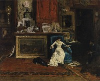The Tenth Street Studio 1880 Oil on canvas, 36.25 x 48.25 in.