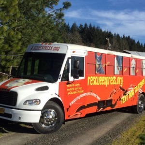Rescue Express Transport Bus - Takes Dog From LA to Washington