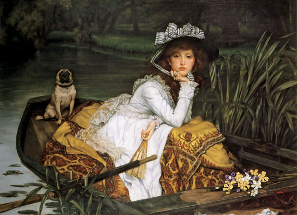 James Tissot: Young Lady in a Boat